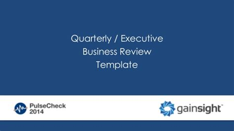 quarterly business review template qbr template