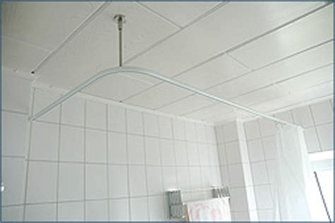 duschvorhangstange badewanne u form winkel duschvorhangstange u form wand deckenbefestigung ebay