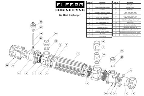 Heat Exchanger Part Diagram by Elecro G2 Heat Exchanger Spare Parts Www