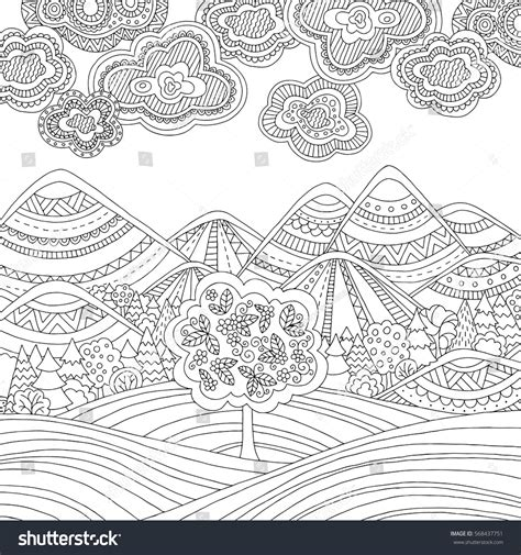 HD wallpapers mountains coloring pages