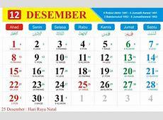 Kalender Jawa Bulan Desember 2019 dan kalender Hijriyah