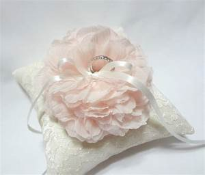 blush ring pillow wedding ring pillow ivory lace ring With pillows for wedding rings