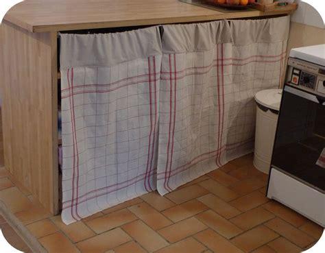 rideaux pour placard de cuisine pour la cuisine l 39 aiguille vagabonde