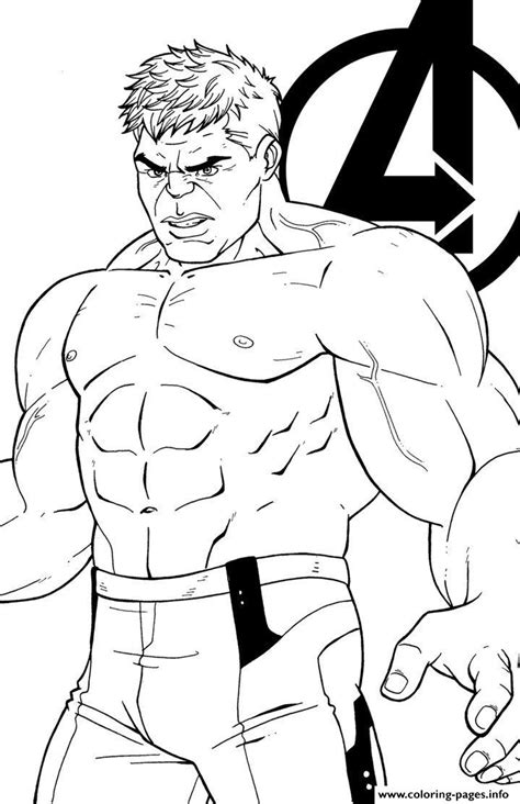 avengers endgame the hulk coloring pages printable