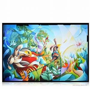 Tableau Moderne Coloré : tableau moderne color jungle paradise tableaux color s pinterest tableaux modernes ~ Teatrodelosmanantiales.com Idées de Décoration