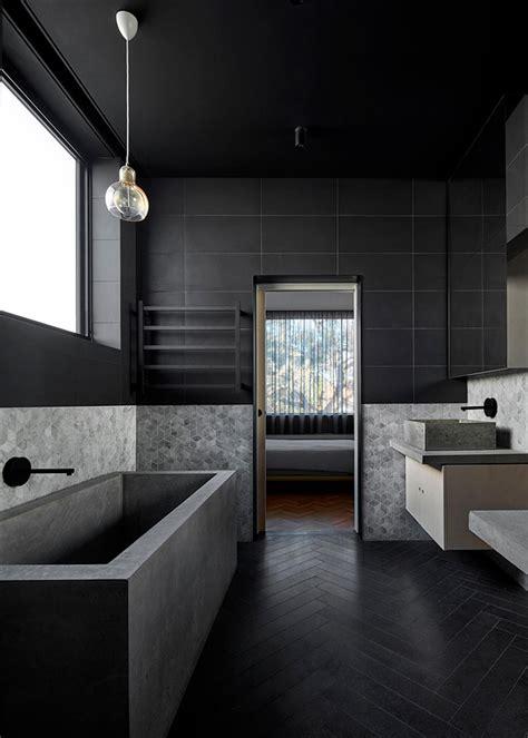 moody monochrome bathrooms house  leisure