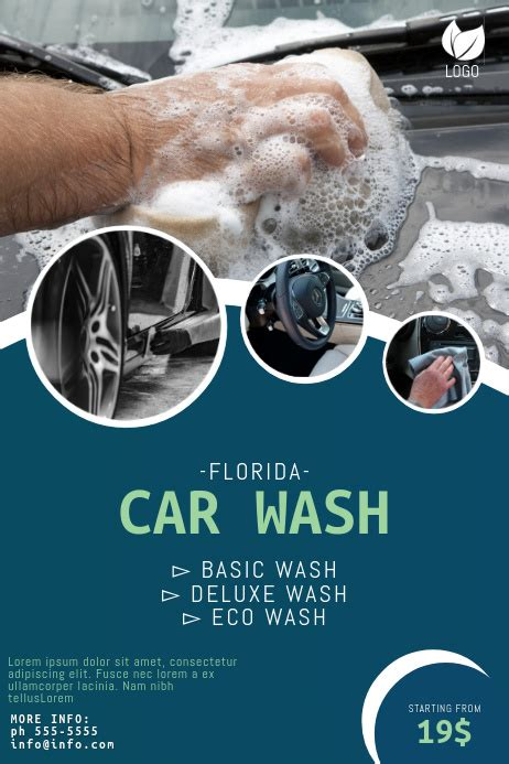 An innovative car wash flyer usually contains an attractive picture of your car wash facility. Copy of Car Wash Flyer Template | PosterMyWall