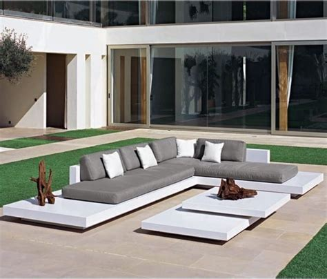 platform outdoor sectional sofa contemporary patio