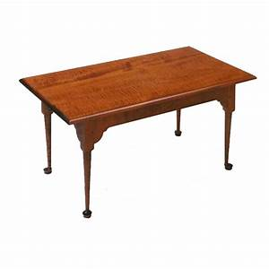 queen anne coffee table With tiger maple coffee table