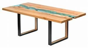 Table Verre Bois : table bois verre riviere 03 la boite verte ~ Teatrodelosmanantiales.com Idées de Décoration