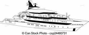 Vectors of Luxury yacht - Illustration of a luxury yacht ...