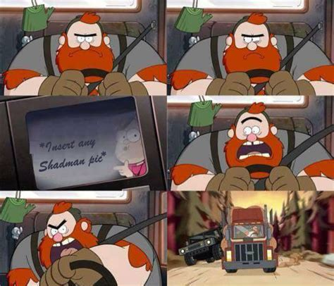 Shadman Memes - tfw shadman picture is in any gallery gravity falls know your meme