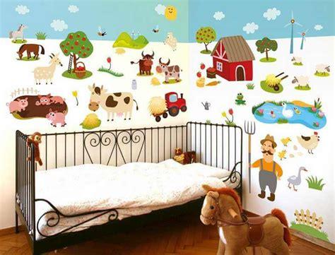 Kinderzimmer Wandgestaltung Bauernhof wandsticker kinderzimmer bauernhof set dekodealz de