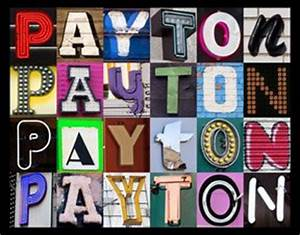 amazoncom payton personalized name poster using sign With sign letters amazon