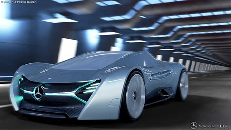 mercedes supercar the mercedes benz elk electric supercar imagination