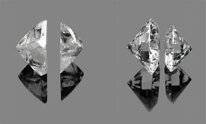 Rough Diamonds Diamond Cut Berlian Before Permata