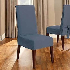 Sure fitr duck supreme cotton short dining room chair for Sure fit cotton duck short dining room chair slipcover