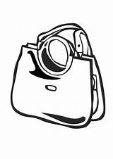 Purse Coloring Pages Handbag Template Templates sketch template