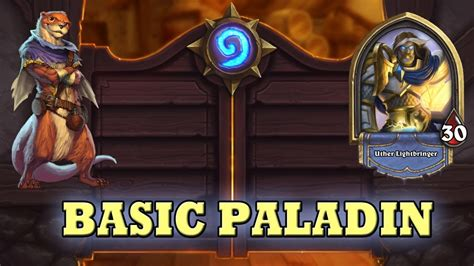 hearthstone deck guide starter paladin basic cards only