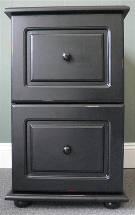 Black Wood Distressed 2 Drawer File Cabinet 104 39 Overstock