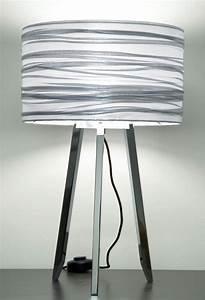Abat Jour Pour Lampe Sur Pied : silence lampe avec abat jour argent et pied chrom par ~ Melissatoandfro.com Idées de Décoration
