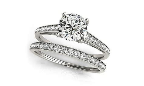 3 64 cttw engagement ring set with swarovski crystals 6