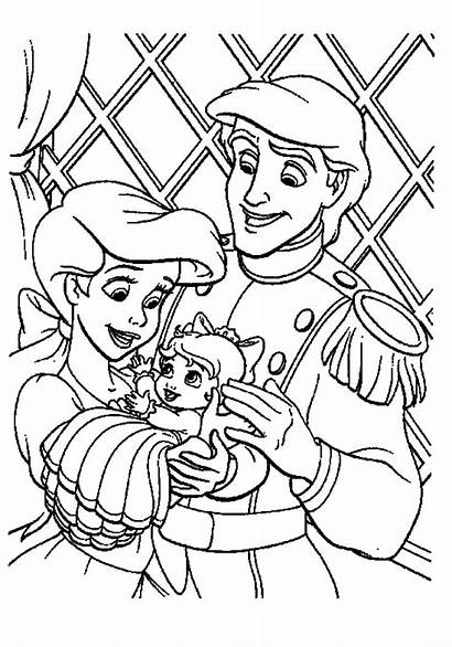 Mermaid Coloring Pages Ariel Prince Suitable Forget