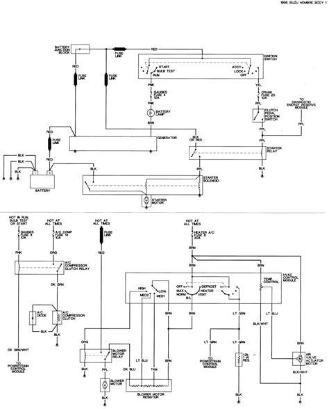 1995 Isuzu Rodeo Radio Wiring Color Diagram by Wrg 1178 Isuzu Alternator Wiring For 98