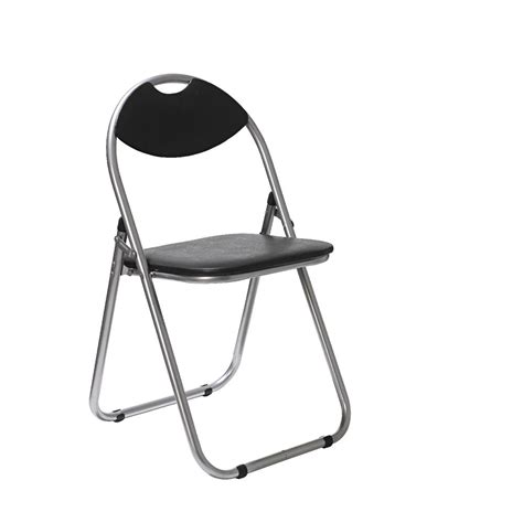 padded folding chair black ebay