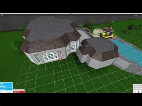 Roblox Bloxburg Mansion With Huge Pool!!! Youtube