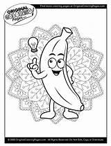 Coloring Banana sketch template