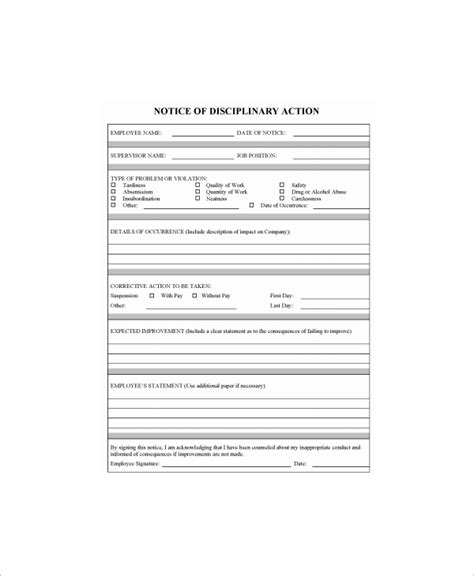 write up template 8 sle employee write up forms sle templates