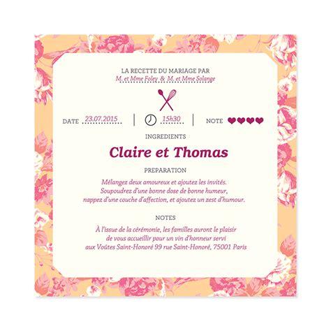 cuisine du bonheur fr invitation mariage unique pour les p 226 tissiers et cuisiniers