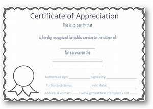 free certificate of appreciation templates certificate With template for a certificate of appreciation