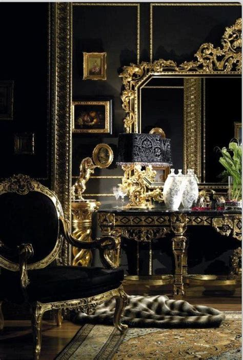 Black And Gold Room  Color Black & Gold Pinterest