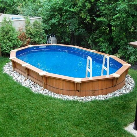 Backyard Swimming Pools Above Ground by Pools Above Ground Pool Backyard Designs Minimalist