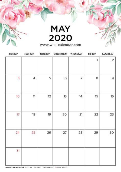 printable  floral calendar kalender
