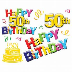 50th Birthday Clip Art - ClipArt Best