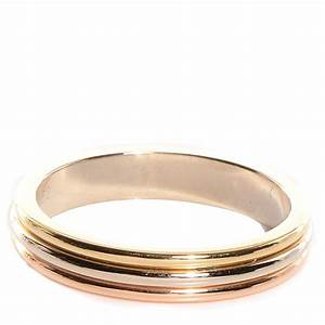 cartier 18k pink yellow white gold trinity wedding band With trinity wedding ring