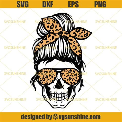 Make these unique american lady skull art design for your family or friends with this easy to print or cut design. Mom Life Leopard Svg, Mom Skull Svg, Messy Bun Skull Svg ...