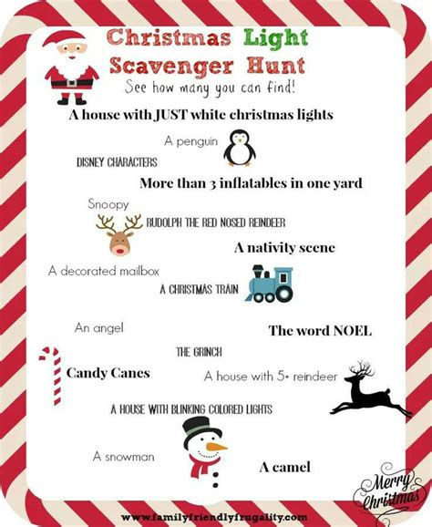 christmas scavenger hunt christmas pinterest