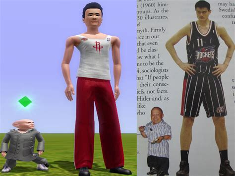 The Gallery For Yao Ming Next To Normal Person