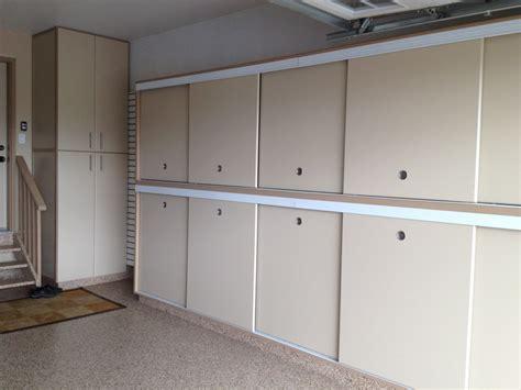 slotwall epoxy floor custom cabinets sliding doors