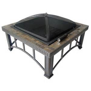 shop garden treasures 30 quot black steel wood burning pit at lowes