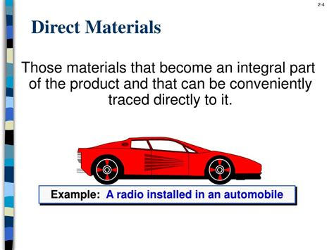 classifications concepts terms cost materials ppt powerpoint presentation