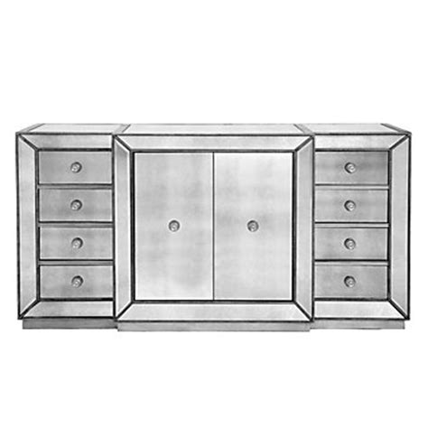 mirrored sideboard table omni mirrored buffet z gallerie 4166