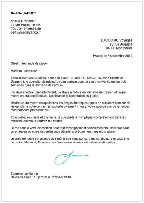 lettre de motivation bureau de tabac exemple de lettre de motivation pour un stage en bac pro