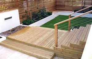 Decking designs for small gardens for Decking ideas for small gardens