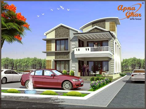 House Designs Duplex House Design Apnaghar House Design