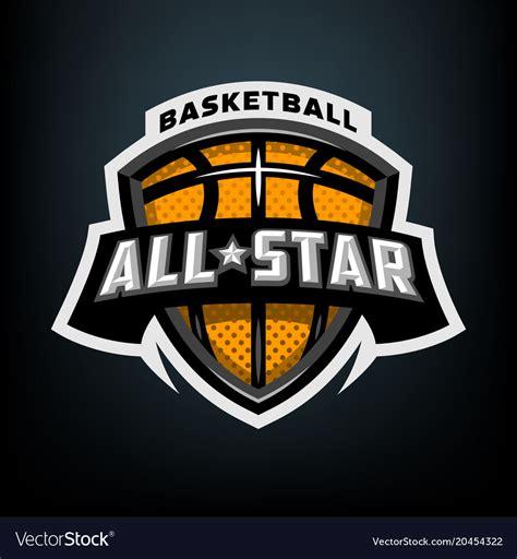 Sports Show Logo by All Basketball Sports Logo Emblem Royalty Free Vector